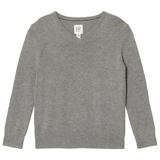Gap Uniform V-Ringad Tröja Grey Heather B20 GREY HEATHER