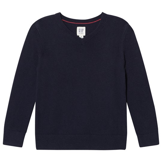 GAP Uniform V-Neck Sweater Navy Base Blue Navy Base Blue