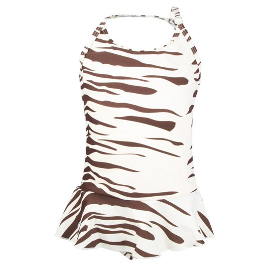 Mini Rodini Zebra Swimsuit Offwhite White