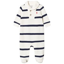 Ralph Lauren Footed Baby Body Cream/Navy Stripe 003