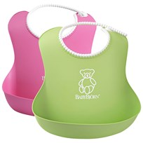 Babybjörn Нагрудник Soft Bib 2-pack PinkGreen
