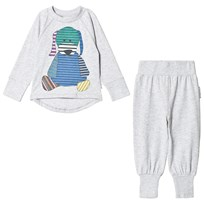 Geggamoja 2-Piece Doddi Pyjamas Light Grey Melange L.grey mel