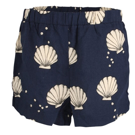 Mini Rodini TScallop Shorts Dk Blue Blue