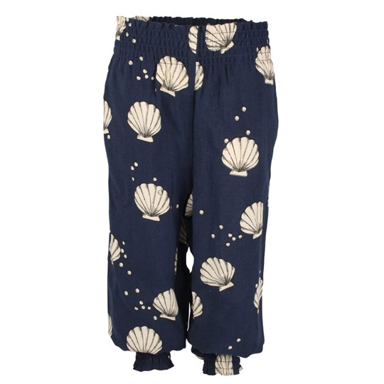 Mini Rodini Scallop Trousers Dk Blue Blue