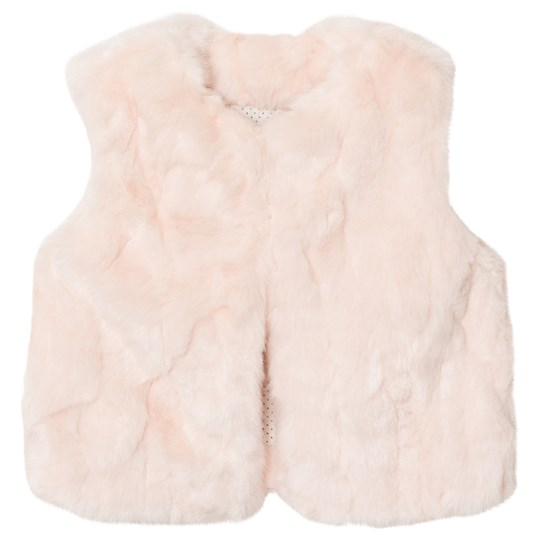 The Little Tailor Pink Baby Faux Fur Gilet Pink