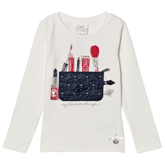 Le Chic Off White Make Up Bag Long Sleeve T Shirt 003-190 Off White