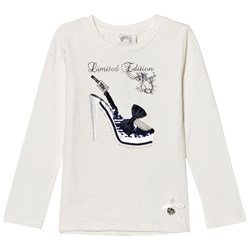 Le Chic Off White High Heel Tee