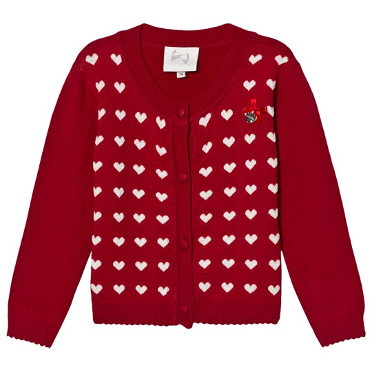 Le Chic Red Hearts Intarsia Cardigan 287