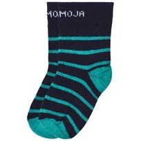 Geggamoja Wool Sock Green Stripe Green stripe