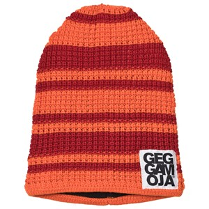 Geggamoja Knitted Beanie Red/Orange 0-2 år