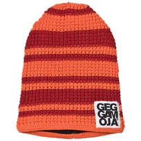 Geggamoja Knitted Beanie Red/Orange Red/orange