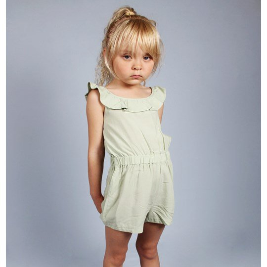 Mini Rodini Frill Summersuit Green Green