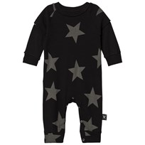 NUNUNU Star Playsuit Black Black
