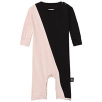NUNUNU Half & Half Playsuit Black/Powder Pink BLACK/POWDER PINK