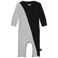 NUNUNU Half & Half Playsuit Black/Heather Grey BLACK/HEATHER GREY