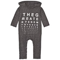 NUNUNU Vision Test Hooded Playsuit Charcoal Charcoal
