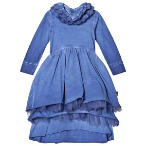 NUNUNU Victorian Dress Dirty Blue 2-3 år