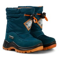 Naturino Varna Waterproof Boots Blue/Orange Navy and White