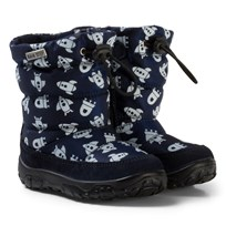 Naturino Poznurr Waterproof Rocket Boots Blue NAVY SPACE