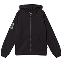 The BRAND City Hoodie Black Black With White Prints