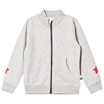 The BRAND Star Zip Sweater Grey Grey Mel With Black Stripe And Black Allstar