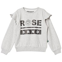 The BRAND Rose Terry Sweatshirt Grey Grey Melange