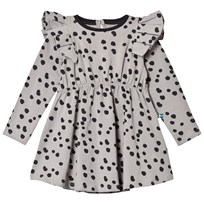 The BRAND Winde Flounce Dress Grey Dot Grey Dot