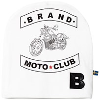 The BRAND Moto Print Hat White White With Moto Print