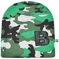 The BRAND Light Camo Hat Light Camo With Black Leather B