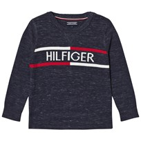 Tommy Hilfiger Navy Branded Sweater 431