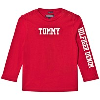 Tommy Hilfiger Red Branded Long Sleeve Tee 697