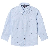Tommy Hilfiger Blue Branded Dobby Shirt 474