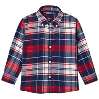 Tommy Hilfiger Navy/Red Branded Check Shirt 002