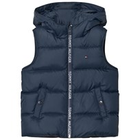 Tommy Hilfiger Navy Down Branded Vest 431