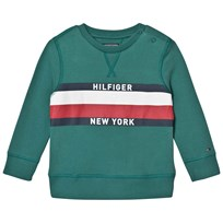 Tommy Hilfiger Green Branded Sweatshirt 305