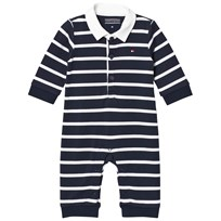 Tommy Hilfiger Navy Big Stripe Baby One-Piece 431