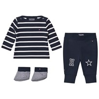 Tommy Hilfiger Navy Big Stripe 3 Piece Outfit Set 431