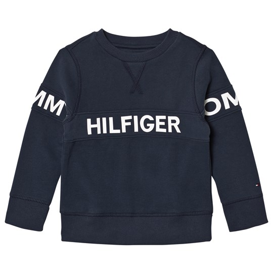 Tommy Hilfiger Navy Branded Cut Sew Sweatshirt 431