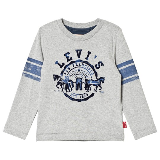 Levis Kids Grey Flocked Logo Long Sleeve Tee 24