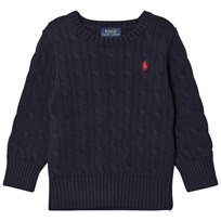 Ralph Lauren Navy Cable Crew Neck Sweater 001