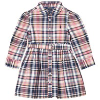 Ralph Lauren Pink and Multi Madras Plaid Short Dress 001