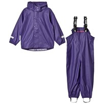 Ticket to heaven 2-Piece Authentic Rubber Rain Set with Detachable Hood Parachute Purple Parachute Purple