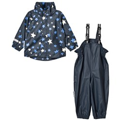 Ticket to heaven 2-Piece Rubber Rain Set with Detachable Hood Provence Stars