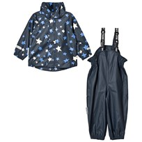 Ticket to heaven 2-Piece Rubber Rain Set with Detachable Hood Provence Stars Provence Stars