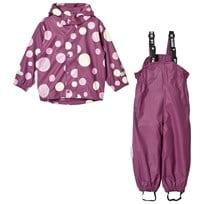 Ticket to heaven 2-Piece Rubber Rain Set with Detachable Hood Amaranth Print Amaranth Print