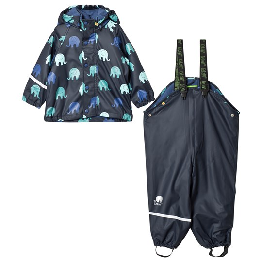 Celavi Rain Set with Fleece Lining Navy Navy