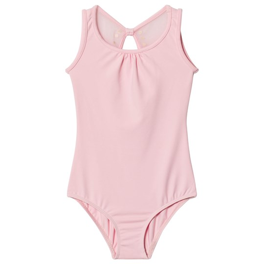 Bloch Pink Aluin Pearl Studded Bow Tank Leotard CDP