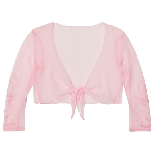 Bloch Pink Delmer Vine Flock Long Sleeve Tie Front Top CDP