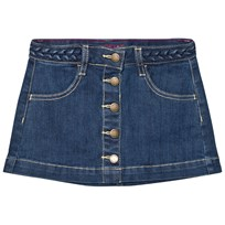 Lands End Blue Wash Denim Skirt Brilliant Blue Wash 5B3