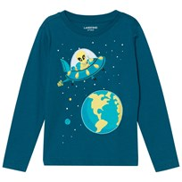 Lands End Blue UFO Long Sleeve Applique Tee UFO 5MG